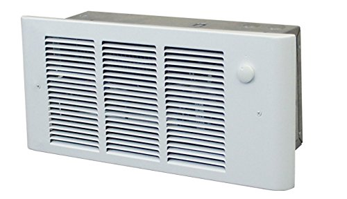 240v Fan Forced Wall Heater - QMark GFR2004F Surface or Recessed Wall Mounted Register Style Electric Residential Wall Heater