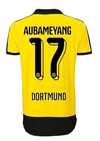 PUMA Borussia Dortmund BVB camiseta de fútbol para niños 2015/2016 - Aubameyang 17 Talla:176: Amazon.es: Deportes y aire libre