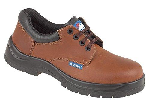 Himalaya-braun Leder hygrip Sicherheit Schuh mit Metall Frei Zehen/Zwischensohle PU-Laufsohle braun