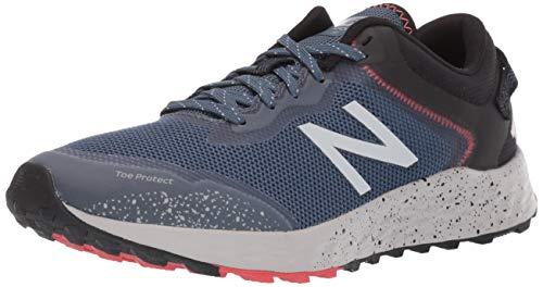 New Balance Men's Arishi V1 Fresh Foam Trail Running Shoe, Stone Blue/Black/Toro RED, 13 D US