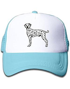 Dalmatian Dog On Kids Trucker Hat, Youth Toddler Mesh Hats Baseball Cap