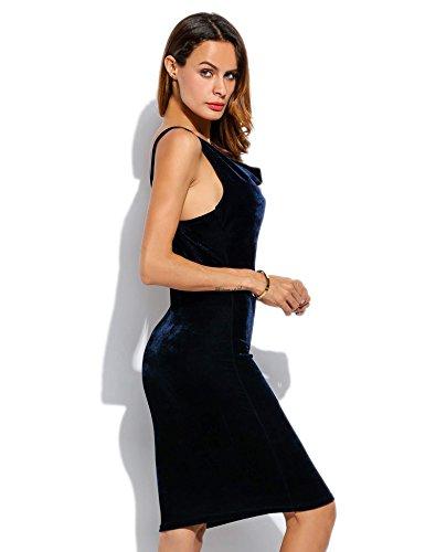 ZEARO Frauen CocktailParty Kleid Frau Slim Sexy Samt Gurtzeug Kleid ...