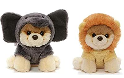 GUND Itty Bitty Boo Bundle of 2, Elephant and Lion