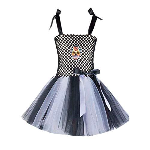 Fiaya Halloween Costume Girls Fairy Fancy Tutu Skirt Dress up Rainbow Pumpkin Unicorn Cosplay Party Costume   18M-8T (Gray, 18-24 Months) -