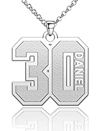 Number Necklace Personalized Jewelry Custom Number Chain 925 Sterling Silver