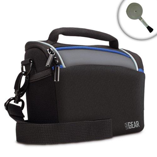 USA Gear Weather Resistant Top-Loading Digital Camera Bag with Rain Cover - Works With Panasonic Lumix DMC-ZS50K , ZS60 , ZS100 , DMC-GX8 , GF7 , DMC-TS6 , DMC-TS30 and More Cameras