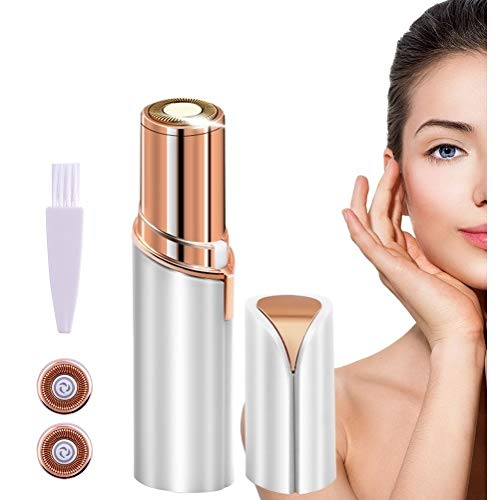 Facial Hair Remover Painless Hair Remover for women's face Portable Handy Mini Electric Hair Remover with 2 Replacement Heads