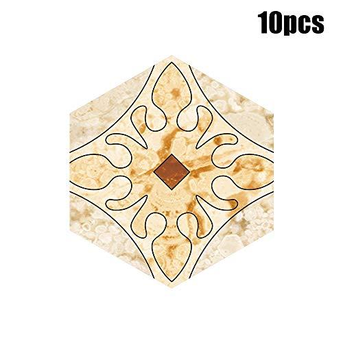 XQXCL Self Adhesive Tile Home Art Floor Wall Decal Sticker DIY Kitchen Bathroom Decor 10Pcs