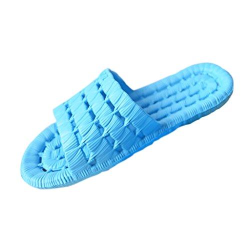 Doux Ciel 41 Bain Home JAGENIE Chaussons Sandales Super de Hôtel Garden Ciel Bleu Creux à Enfiler Bleu 40 Bx5xw8