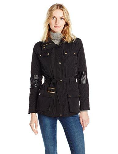 OTTO Calvin Klein Women's Quilted Jacket W/Belt, Black, S