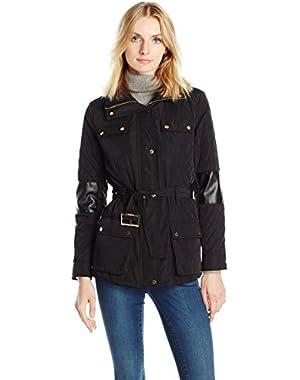 Women's Quilted Jacket W/ Belt