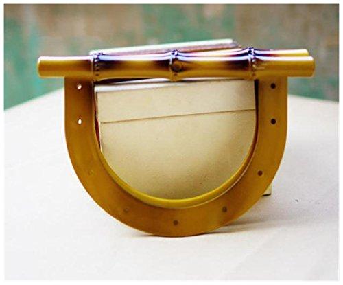 Ownstyle Vintage Bamboo Shape Purse Handles Handbag DIY Acrylic Purse DIY , 8 Inch,Pack of ()