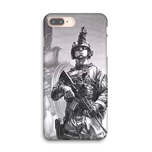 Army Ranger Chest Tattoos Soft Gel Case for iPhone 8 Plus - Create Your iPhone 8 Plus Case with Army Ranger Chest Tattoos -