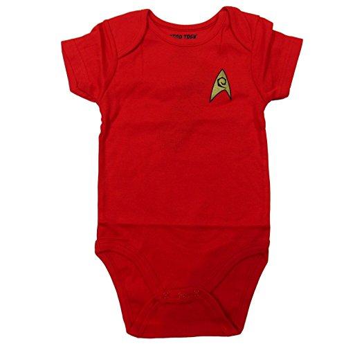 Star Trek Baby Bodysuit Romper Infant Shirt Clothes (12-18 Months, Red)