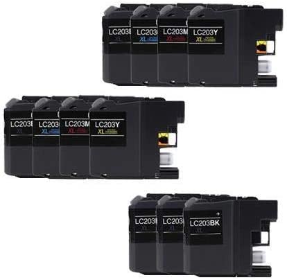 SuppliesMAX Compatible Replacement for Brother DCP-J562//J4120//MFC-J460//J680//J880//J4320//J4620//J5320//J5620//J5720DW Inkjet Combo Pack 5-BK//2-C//M//Y LC-221XL5BK2CMY