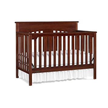 Amazon Graco Lauren Signature Convertible Crib Rustic Cherry