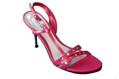 Uno Slingback Sandal Detail Pink Leather Fuschia Stiletto With Via wEdFvTqw
