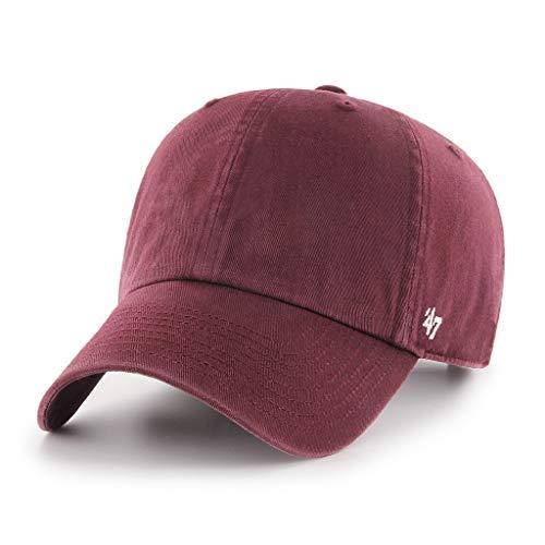 '47 Brand Clean Up Blank Dad Hat - Maroon | Adjustable -