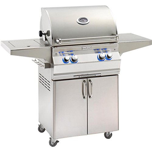 - Fire Magic Aurora A430s 24-inch Propane Gas Grill with One Infrared Burner, Analog Thermometer, Rotisserie and Single Side Burner - A430s-6lap-62