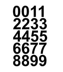 Sheet of 1 1/2 Inch Numbers Vinyl Custom Street Address Mailbox Decal Stickers Kit