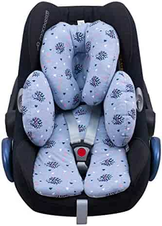 TEEPIRE Creacolyfe Car Seat Headrest Pillow BLACK3 180 Degree Adjustable Both Sides Travel Sleeping Cushion for Kids Adults Head Neck Support Detachable,Premium seat held Pillow Headrest for car