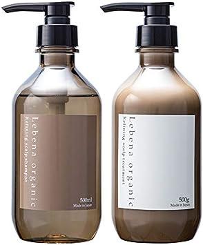 レベナオーガニック シャンプー&トリートメントセット アミノ酸 オーガニック ノンシリコン ボタニカル スカルプ 無添加 しっとり高保湿 セラミド 植物幹細胞 配合 500ml&500g