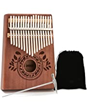 UNOKKI Mahogany Kalimba 17-Key Thumb Piano with Instruction Book and Tuning Hammer – Portable Personal Musical Instrument for Kids and Adults, Beginners to Professionals photo