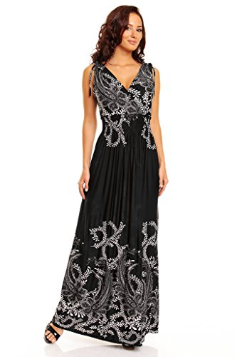 a85af3c51fb41 fashion house Ladies Floral Vines Print Summer Beach Casual Holiday Maxi  Day Dress