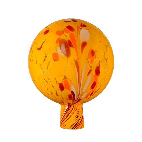 Rosenkugel aus Glas, 15 cm für außen, gelb