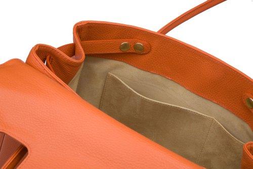 diboni Borsa a tracolla da donna Madison in pelle Arancione/brace arancione Comprar Tienda Barata Para ThbS0OGrXq