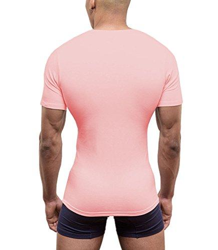 Profond V Hommes Deep Et Anse T Pwquo4f Col Shirt Rose Underwear Dore XTkZiPOuw