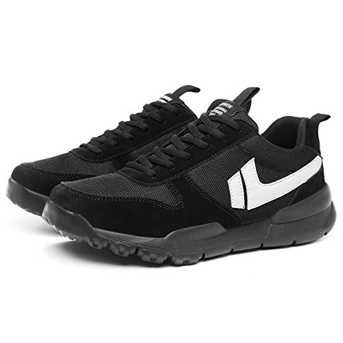 Easy Go Shopping Fashion Sneaker Large Size Ankle Sport Shoes Lace up Anti Slip Outsole up to Size 47EU Cricket Shoes Black syxY4SiC