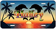 """Customized Aluminum Metal License Plate, Decorative Front License Plate, Vanity Car Tag Sign 6"""""""