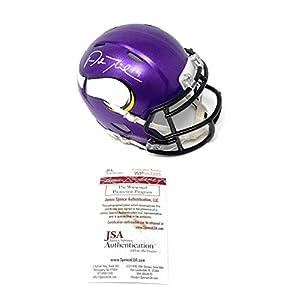 Adam Thielen Minnesota Vikings Signed Autograph Speed Mini Helmet JSA Witnessed Certified