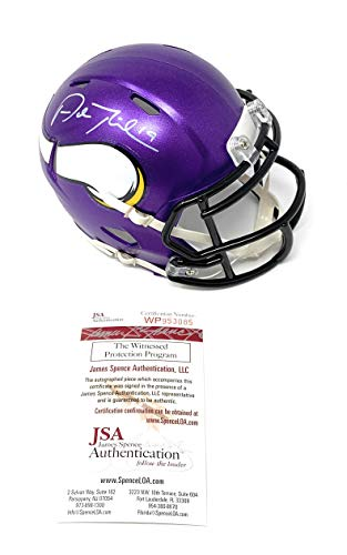 Adam Thielen Minnesota Vikings Signed Autograph Speed Mini Helmet JSA Witnessed Certified