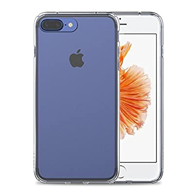 iPhone 7 Plus Case, LUVVITT [ClearView] Hybrid Scratch Resistant Back Cover with Shock Absorbing Bumper for Apple iPhone 7 Plus - Crystal Clear
