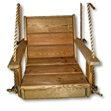 Cypress Wood Chair Tree Swing- Porch- Patio / 16″ Wide Seat For Sale