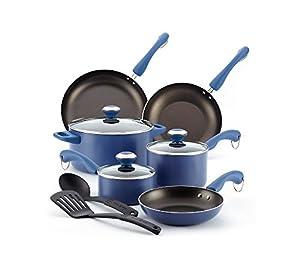 Paula Deen Signature Aluminum Nonstick Dishwasher Safe 11-Piece Cookware Set
