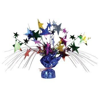Beistle 1-Pack Star Gleam N Spray Centerpiece, 11-Inch, Multicolor ()