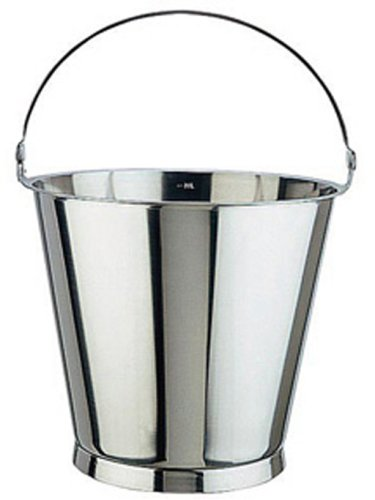 Paderno World Cuisine stainless steel bucket with base 12 5/8 quarts