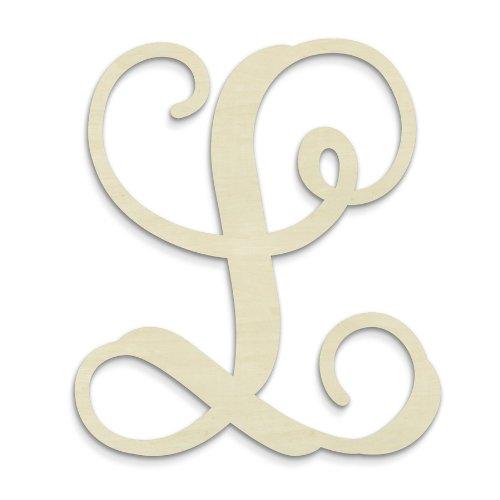 UNFINISHEDWOODCO Single Vine Monogram Unfinished Letter, 19.5-Inch, Letter -