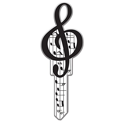 Lucky Line Key Shapes, Music, House Key Blank, LW, 1 Key (B125L) (One Blank Key)