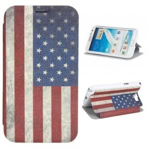 Simple Series US Flag Pattern PU Leather Protective Case for Samsung N7100
