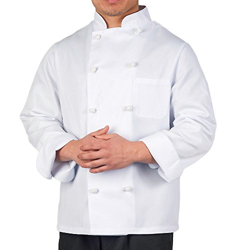 KNG Executive Chef Coat with Knotted Buttons, L