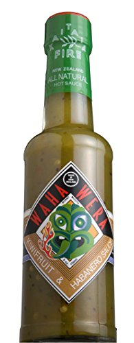 Habanero, Kiwi Fruit and Manuka Honey, New Zealand's Favorite Waha Wera Green Hot Sauce (salsa picante verde)