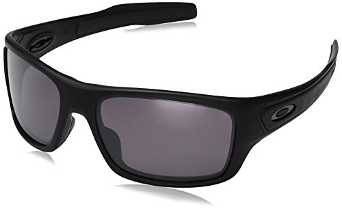 Oakley Boys' Turbine Xs Polarized Rectangular Sunglasses, Matte Black, 57 mm