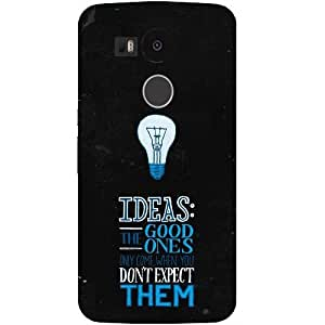casotec Ideas diseño Hard back Case Cover para LG Nexus 5 X
