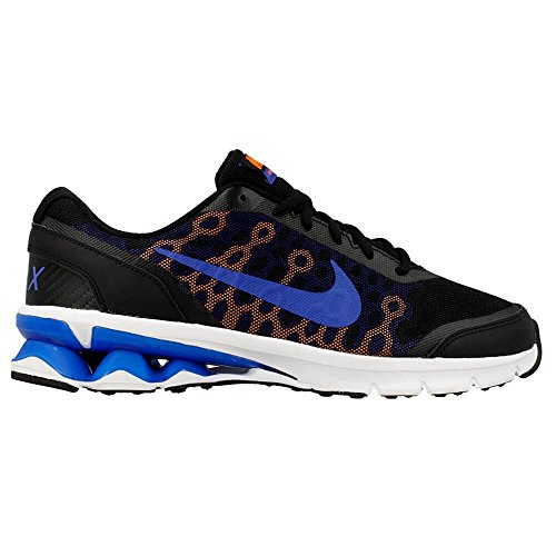 Nike Reax Run 10, Zapatillas de Running para Hombre Negro / Azul / Naranja  (Black/Game Royal-Total Orange)