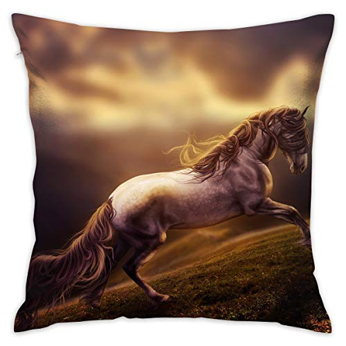 - Reteone Handsome Fantasy Horse Art Pillowcase Covers - Zippered Pillow Case Cover, Pillow Protector, Best Throw Pillow Cover - Standard Size 18x18 Inch, Double-Sided Print Pillowcases
