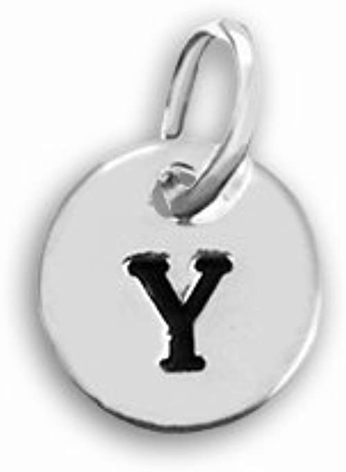Up to 5 Letters Engraved Sterling Silver Necklace with Round Letter Charms